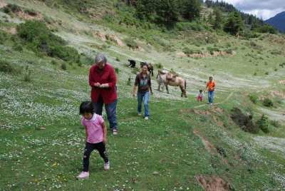 Tibet with children - hillside Danba West Sichuan