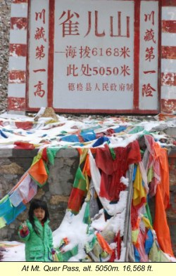 Tibet with Children - Mt. Quer Pass