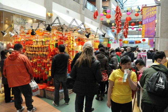 Chinese New Year Booths at International Village Mall