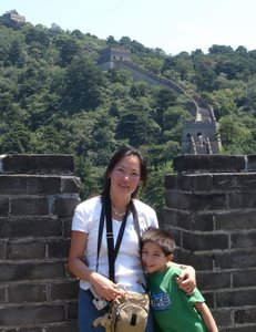 Me and Christopher at the Great Wall
