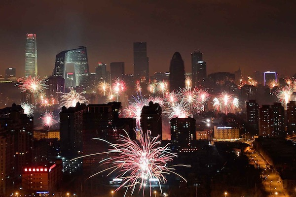 Chinese New Year Fireworks in  Beijing