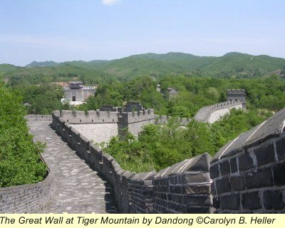 Great Wall Tiger Mountain Dandong North Korea border