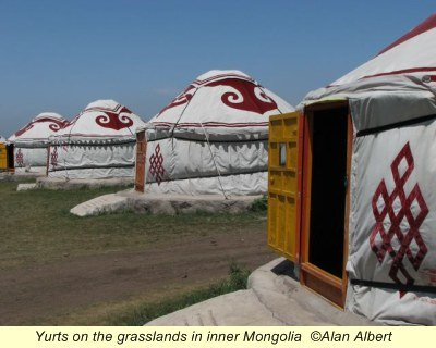 Yurts on the grasslands in Inner Mongolia