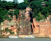 The Great Buddha at Leshan from the river