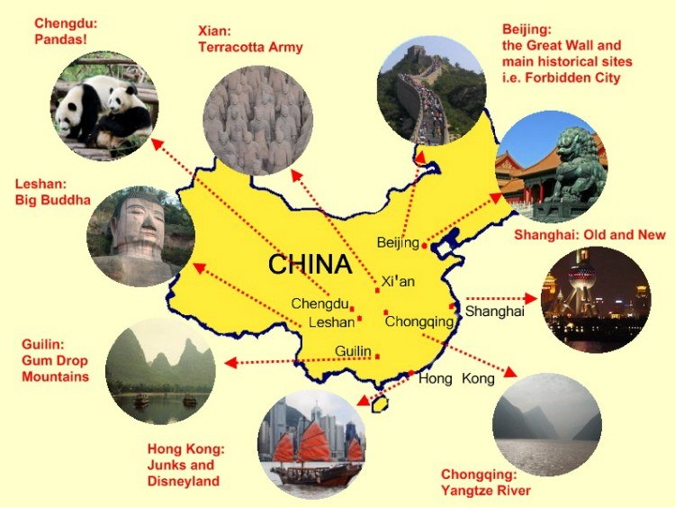 China Map - Facts about maps for kids
