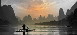 Li River and Karst Mountains Scenery