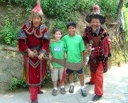 Kids with Warriors at the Great Wall