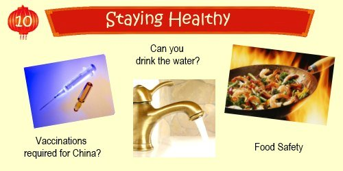 China Travel Planner: Staying Healthy