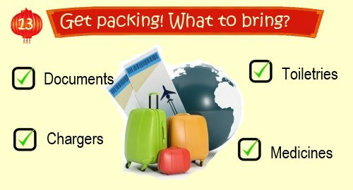 China Travel Planner: Packing List