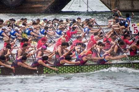 Chinese Dragon Boat Festival Hong Kong - Victoria Harbour Boat Races