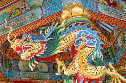 Chinese Dragon in temple