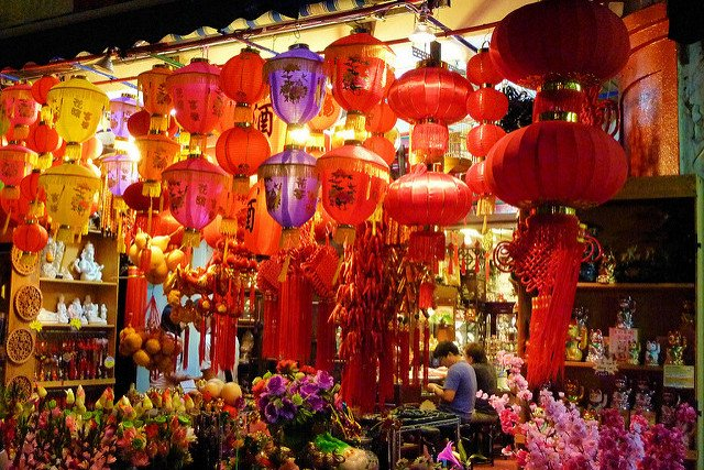 Lanterns at Chinese New Year Flower Markets