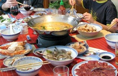 Enjoying Hot Pot for Chinese New Year