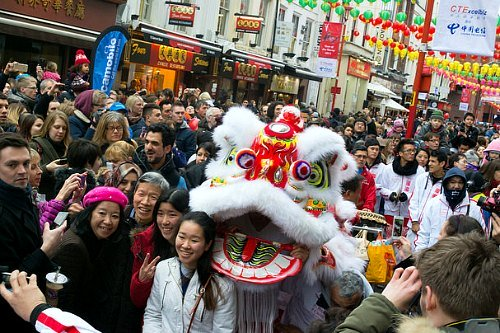 Chinese New Year Lion Dances in London Chinatown