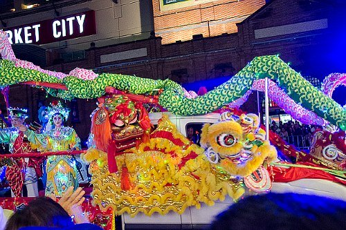 Chinese New Year Twilight Parade in Sydney Australia