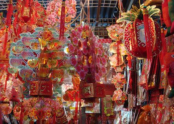 Preparing Decorations for Chinese New Year