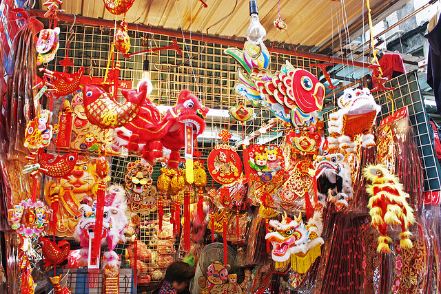 Chinese New Year Traditions: Red and Gold Decorations