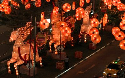 Year of the Horse lantern displays in Singapore