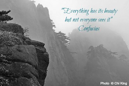 Everything has its beauty but not everyone sees it - Confucius