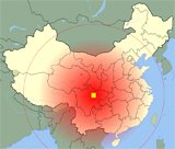 China Earthquake area map