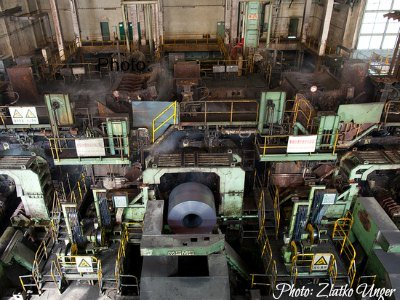 Economy of China: Manufacturing  Steel Plant in Shanghai