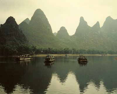 Guilin Li River Chinese Mountains