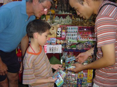 Haggling at the markets