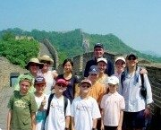 Family at the Great Wall