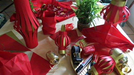 Chinese New Year Crafts and materials to make them