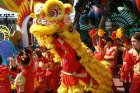 Lion Dancers during Chinese New Year