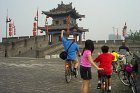 Kids biking on Xian Great Wall