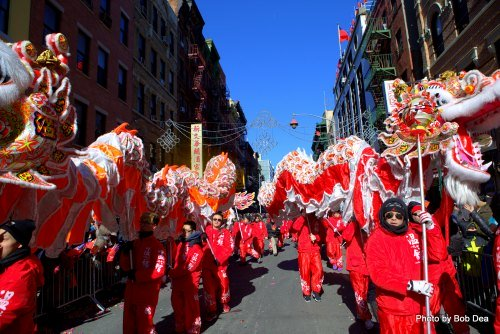 Chinese New Year Parade in New Yorks Chinatown: Fantastic Dragon Dances