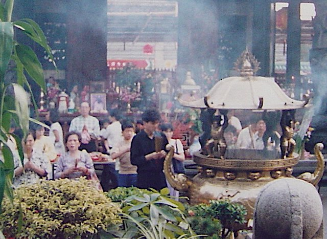 Chinese Ghost Festival Food Offerings