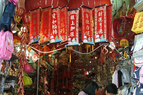 Chinese New Year Decorations in Sydney Chinatown