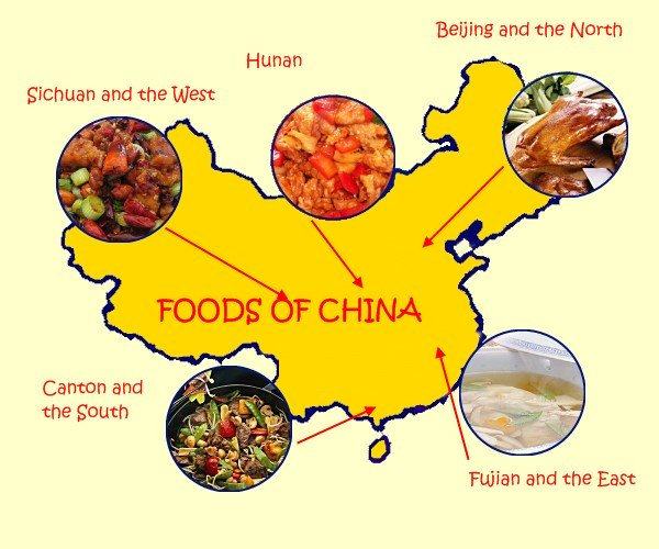 Types of Chinese Food - China Map Regions