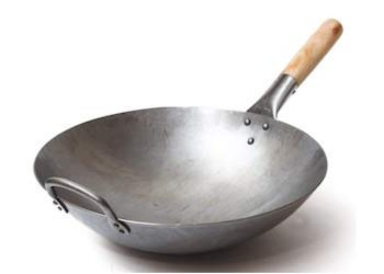 Chinese cooking utensils: Carbon Steel Wok One Handle