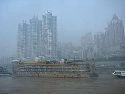 Yangtze River cruise ships at the port