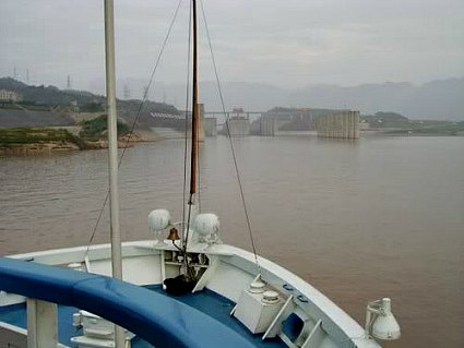 Approaching the Yangtze River Dam
