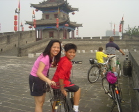 Xian with Kids: Biking on the Xian Wall