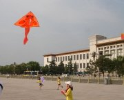 Beijing - Flying Kites in Tiananmen Square
