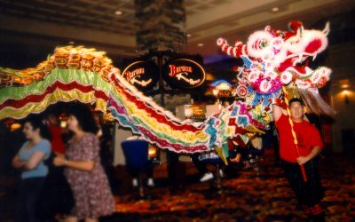 Chinese New Year in San Diego Dragon Dance